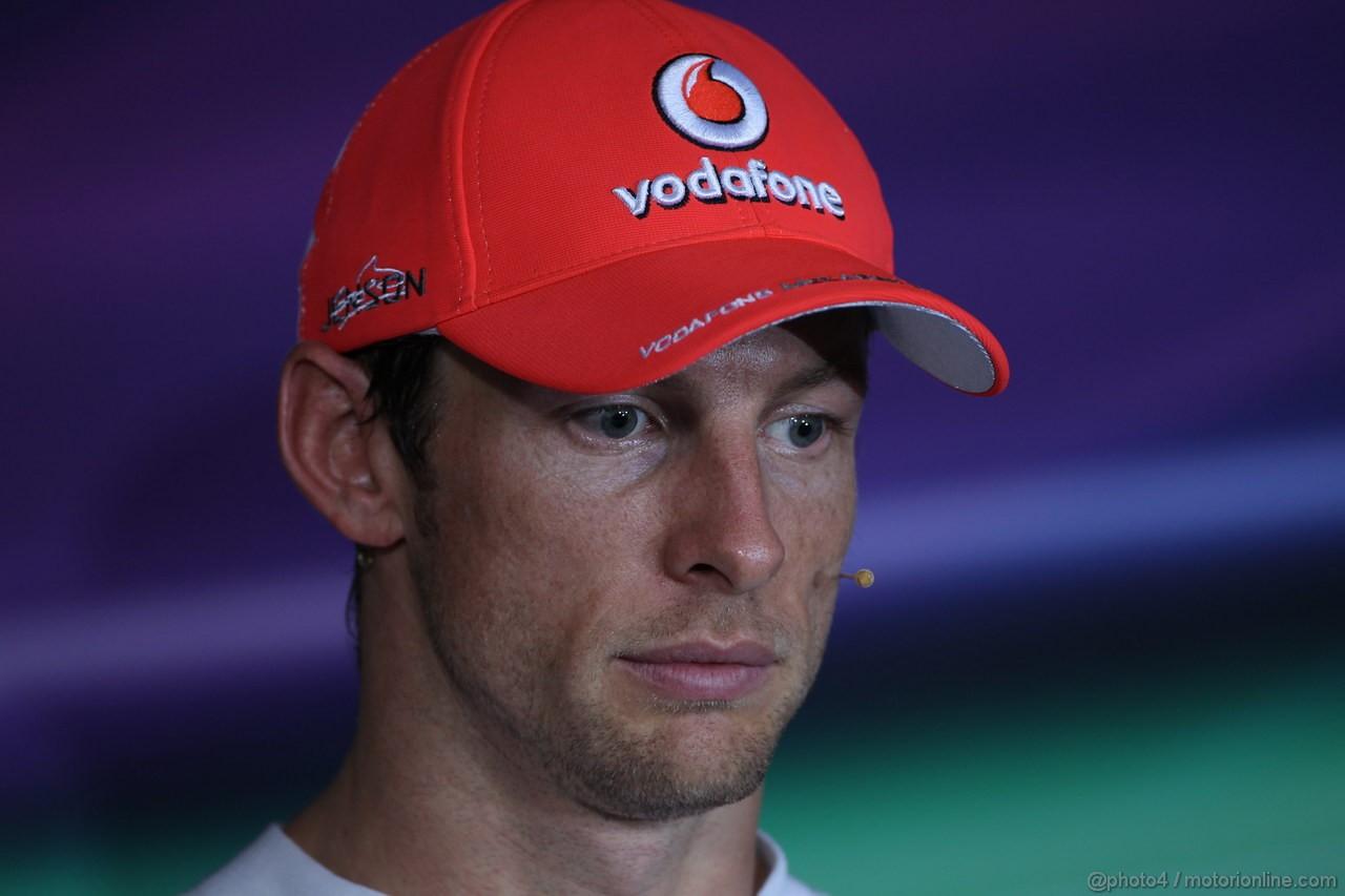 GP SINGAPORE, 23.09.2012 - Press Conference: 2nd Jenson Button (GBR) McLaren Mercedes MP4-27