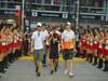 GP SINGAPORE, 23.09.2012 - Nico Rosberg (GER) Mercedes AMG F1 W03, Timo Glock (GER) Marussia F1 Team MR01, Nico Hulkenberg (GER) Sahara Force India F1 Team VJM05