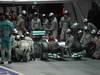 GP SINGAPORE, 23.09.2012 - Gara, Michael Schumacher (GER) Mercedes AMG F1 W03 pit stop