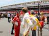 GP SPAGNA, 13.05.2012- Gara, Hirohide Hamashima (JPN), Ferrari e Sebastian Vettel (GER) Red Bull Racing RB8
