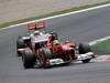 GP SPAGNA, 13.05.2012- Gara, Felipe Massa (BRA) Ferrari F2012 davanti a Lewis Hamilton (GBR) McLaren Mercedes MP4-27