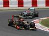 GP SPAGNA, 13.05.2012- Gara, Romain Grosjean (FRA) Lotus F1 Team E20 davanti aMichael Schumacher (GER) Mercedes AMG F1 W03