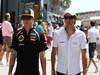 GP UNGHERIA, 29.07.2012-Kimi Raikkonen (FIN) Lotus F1 Team E20 e Pedro de la Rosa (ESP) HRT Formula 1 Team F112