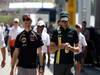 GP UNGHERIA, 29.07.2012- Romain Grosjean (FRA) Lotus F1 Team E20 e Vitaly Petrov (RUS) Caterham F1 Team CT01