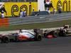 GP UNGHERIA, 29.07.2012- Gara, Jenson Button (GBR) McLaren Mercedes MP4-27 e Kimi Raikkonen (FIN) Lotus F1 Team E20