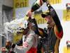 GP UNGHERIA, 29.07.2012- Gara, Lewis Hamilton (GBR) McLaren Mercedes MP4-27 vincitore, secondo Kimi Raikkonen (FIN) Lotus F1 Team E20 e terzo Romain Grosjean (FRA) Lotus F1 Team E20