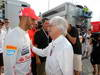 GP UNGHERIA, 29.07.2012- Gara, Lewis Hamilton (GBR) McLaren Mercedes MP4-27 vincitore with Bernie Ecclestone (GBR), President e CEO of Formula One Management