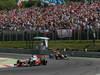 GP UNGHERIA, 29.07.2012- Gara, Jenson Button (GBR) McLaren Mercedes MP4-27 e Sebastian Vettel (GER) Red Bull Racing RB8