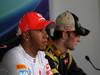 GP UNGHERIA, 29.07.2012- Gara, Conferenza Stampa, Lewis Hamilton (GBR) McLaren Mercedes MP4-27 e Romain Grosjean (FRA) Lotus F1 Team E20