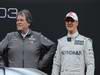 Mercedes F1 W03, 21.02.2012 Barcelona, Spain, Norbert Haug (GER), Mercedes Sporting Director with Michael Schumacher (GER), Mercedes GP- Mercedes F1 W03 Launch