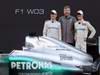 Mercedes F1 W03, 21.02.2012 Barcelona, Spain, Nico Rosberg (GER), Mercedes GP with Ross Brawn (GBR), Mercedes GP Team Principal andMichael Schumacher (GER), Mercedes GP- Mercedes F1 W03 Launch