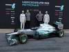 Mercedes F1 W03, 21.02.2012 Barcelona, Spain, Nico Rosberg (GER), Mercedes GP with Ross Brawn (GBR), Mercedes GP Team Principal, Norbert Haug (GER), Mercedes Sporting Director e Michael Schumacher (GER), Mercedes GP - Mercedes F1 W03 Launch