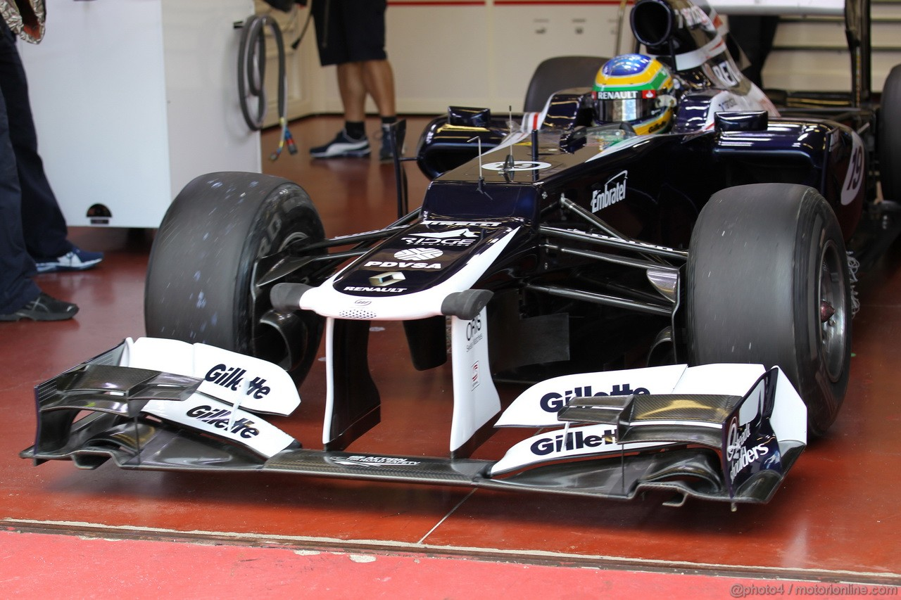 Mugello Test Maggio 2012, Bruno Senna (BRA), Williams F1 Team front wing  02.05.2012. Formula 1 World Championship, Testing, Mugello, Italy