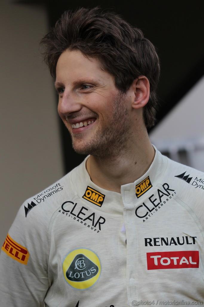 Mugello Test Maggio 2012, Romain Grosjean (FRA), Lotus Renault F1 Team  02.05.2012. Formula 1 World Championship, Testing, Mugello, Italy