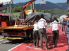 Mugello Test Maggio 2012, Kamui Kobayashi (JAP), Sauber F1 Team went off the track e the car was taken back to the pits  02.05.2012. Formula 1 World Championship, Testing, Mugello, Italy