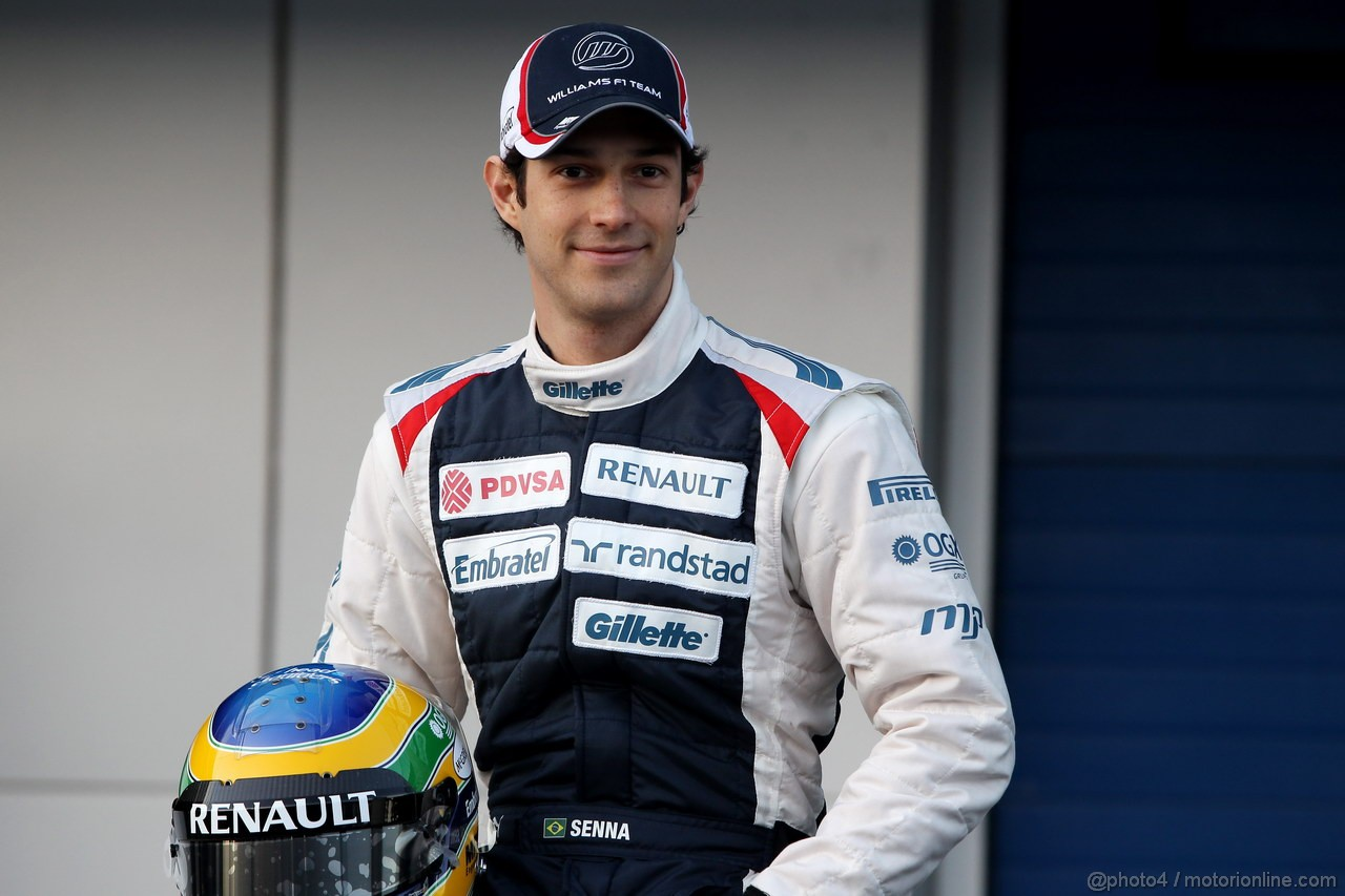 Williams FW34, 07.02.2012 Jerez, Spain,  Bruno Senna (VEN), Williams F1 Team  - Williams F1 Team FW34 Launch