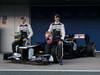 Williams FW34, 07.02.2012 Jerez, Spain,  Bruno Senna (VEN), Williams F1 Team e Pastor Maldonado (VEN), Williams F1 Team  - Williams F1 Team FW34 Launch