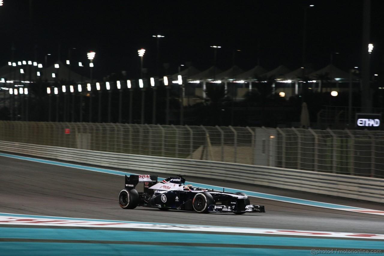 GP ABU DHABI, 03.11.2013- Gara, Pastor Maldonado (VEN) Williams F1 Team FW35
