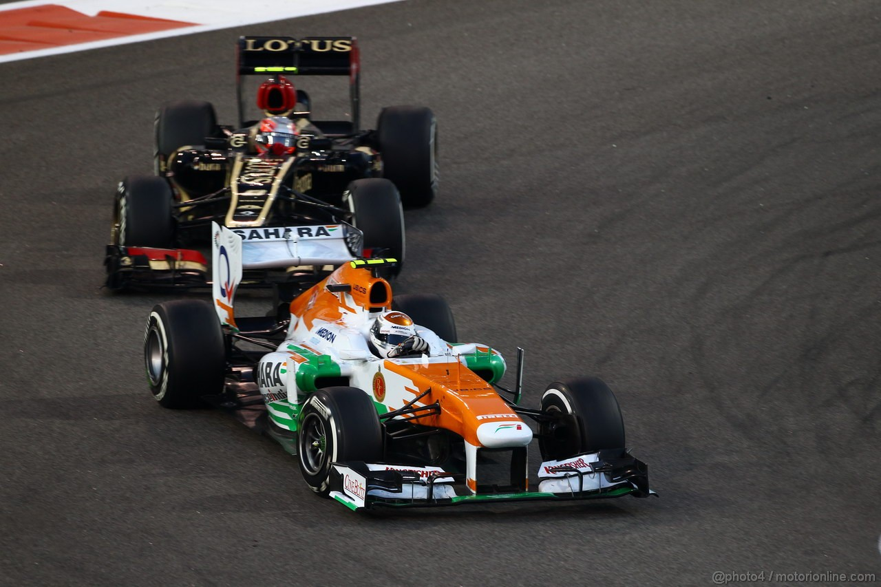 GP ABU DHABI, 03.11.2013- Gara, Adrian Sutil (GER), Sahara Force India F1 Team VJM06