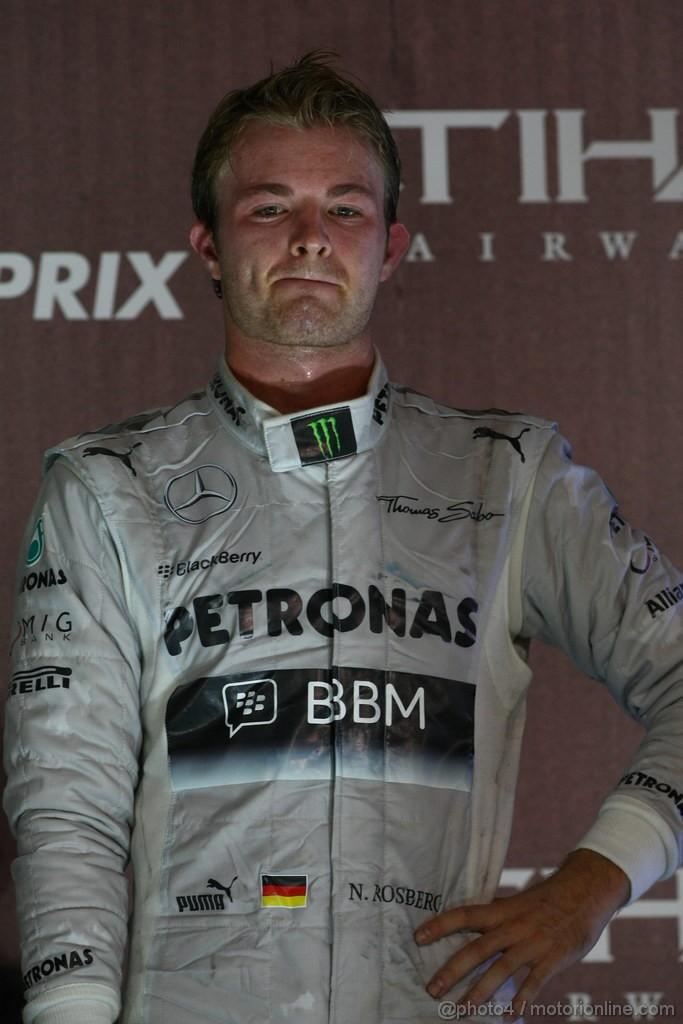 GP ABU DHABI, 03.11.2013- Podium, 3rd Nico Rosberg (GER) Mercedes AMG F1 W04