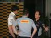 GP ABU DHABI, 03.11.2013- Paul Hembery (GBR) Pirelli Motorspor Director e Christian Horner (GBR), Red Bull Racing, Sporting Director