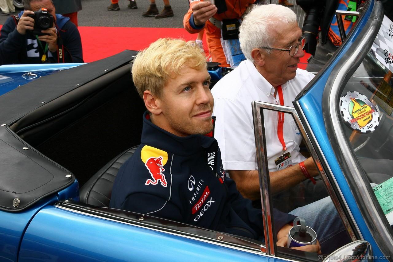 GP BELGIO, 25.08.2013- Sebastian Vettel (GER) Red Bull Racing RB9
