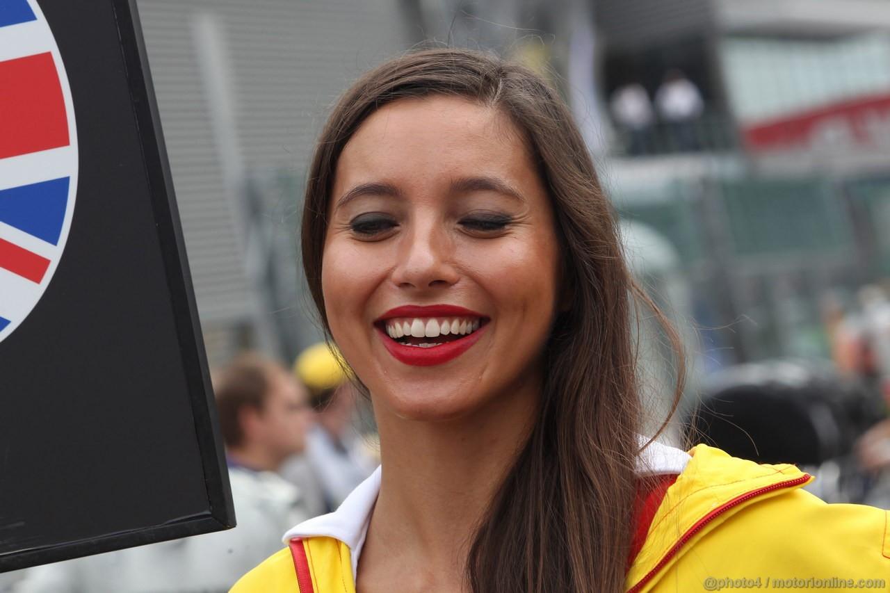 GP BELGIO, 25.08.2013-  Gara, griglia Ragazza