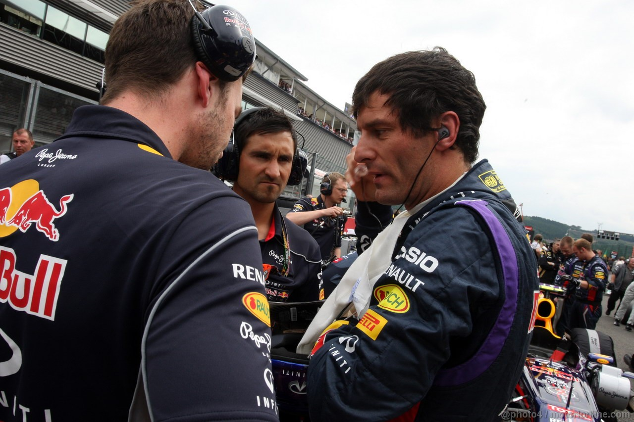 GP BELGIO, 25.08.2013-  Gara, Mark Webber (AUS) Red Bull Racing RB9