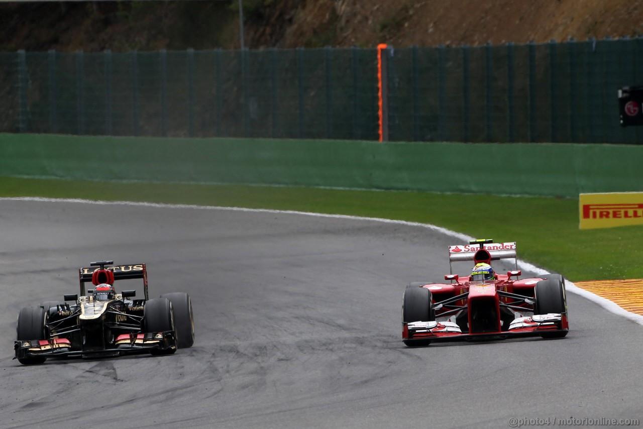 GP BELGIO, 25.08.2013-  Gara, Kimi Raikkonen (FIN) Lotus F1 Team E21 retires from the race