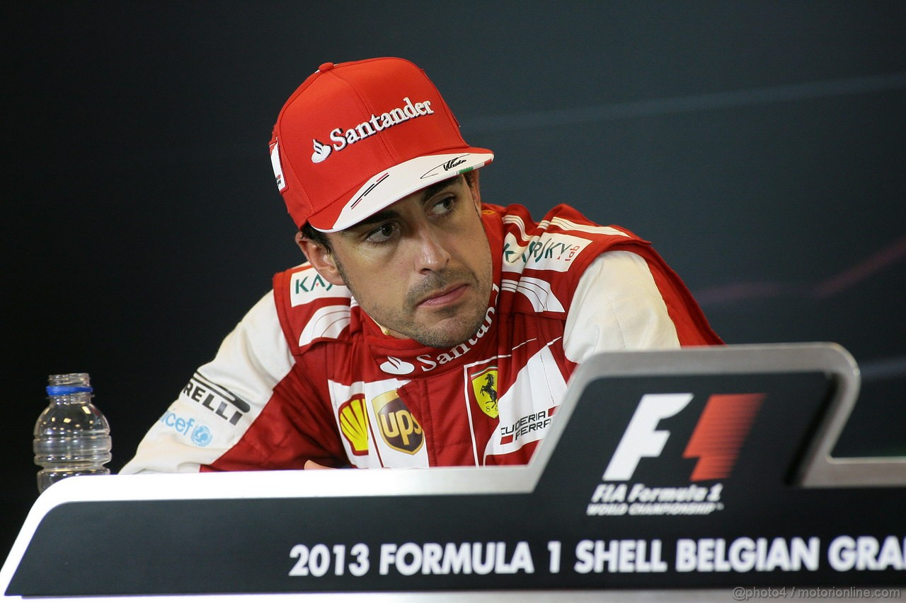 GP BELGIO, 25.08.2013-  Gara, Conferenza Stampa, Fernando Alonso (ESP) Ferrari F138