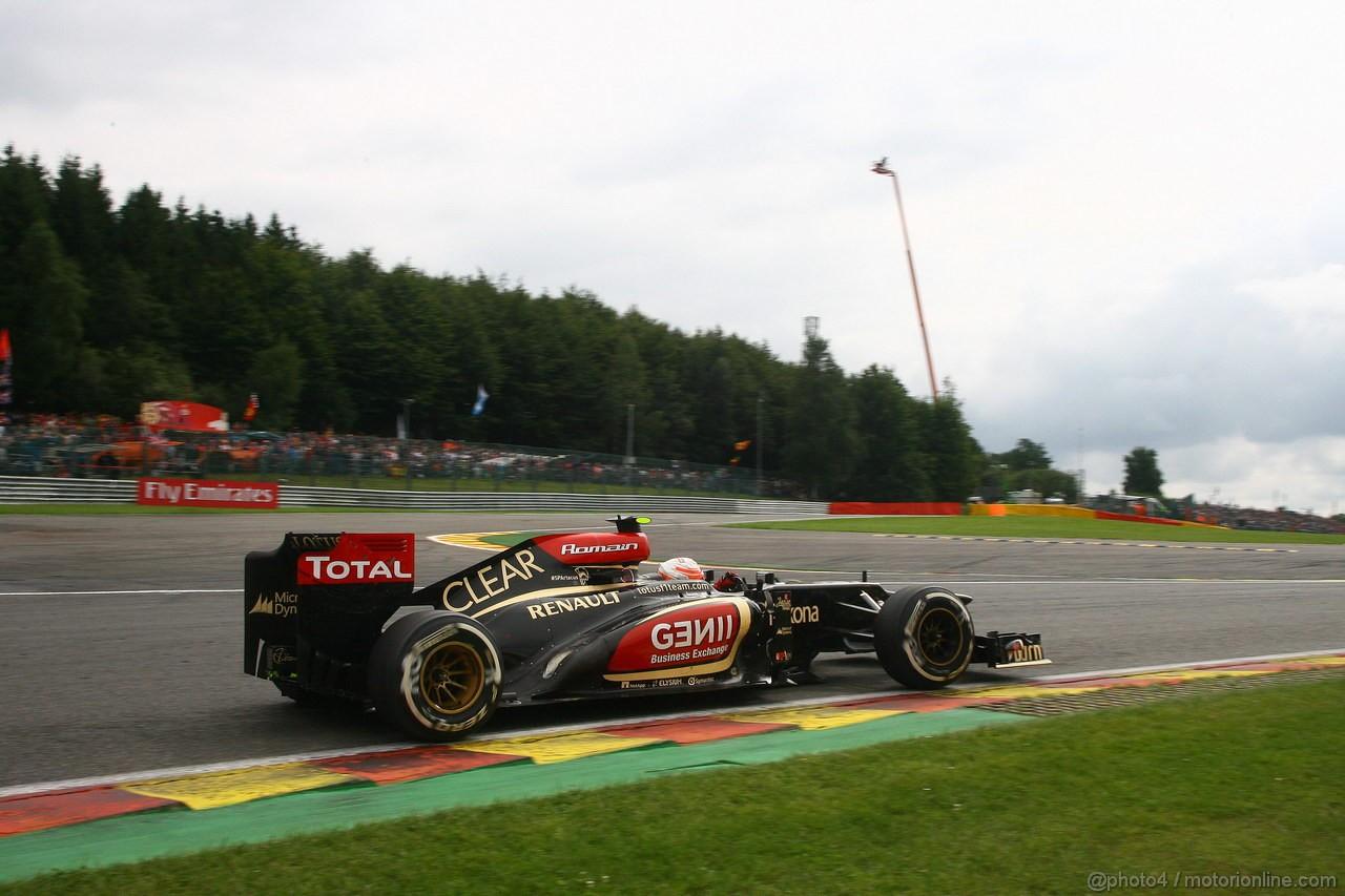 GP BELGIO, 25.08.2013-  Gara, Romain Grosjean (FRA) Lotus F1 Team E21