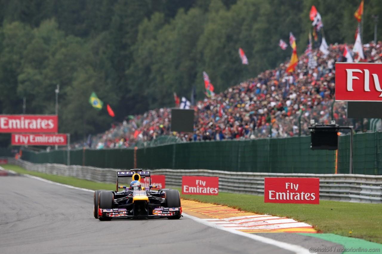 GP BELGIO, 25.08.2013-  Gara, Sebastian Vettel (GER) Red Bull Racing RB9