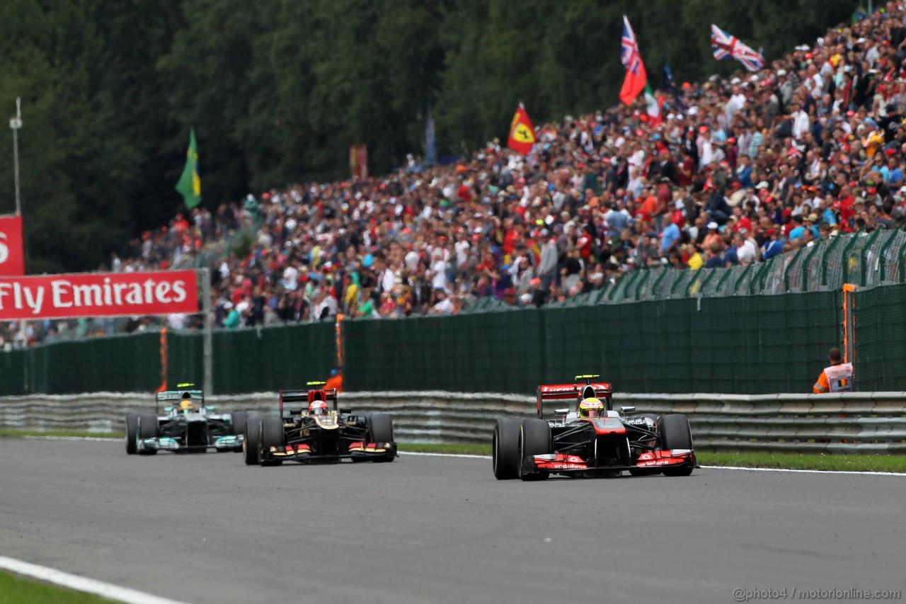 GP BELGIO, 25.08.2013-  Gara, Sergio Perez (MEX) McLaren MP4-28