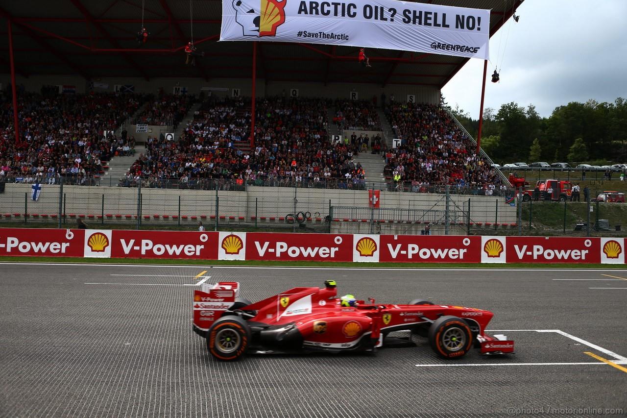 GP BELGIO, 25.08.2013-  Gara, Felipe Massa (BRA) Ferrari F138