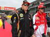 GP BELGIO, 25.08.2013- Kimi Raikkonen (FIN) Lotus F1 Team E21 e Fernando Alonso (ESP) Ferrari F138