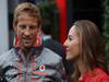 GP BELGIO, 25.08.2013- Jenson Button (GBR) McLaren Mercedes MP4-28 abd Domenica Jessica Michibata (GBR)
