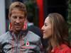 GP BELGIO, 25.08.2013- Jenson Button (GBR) McLaren Mercedes MP4-28 abd Domenica Jessica Michibata (GBR)