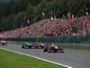 GP BELGIO, 25.08.2013-  Gara, Sebastian Vettel (GER) Red Bull Racing RB9 davanti a Nico Rosberg (GER) Mercedes AMG F1 W04 e Jenson Button (GBR) McLaren Mercedes MP4-28