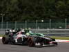 GP BELGIO, 25.08.2013-  Gara, Esteban Gutierrez (MEX), Sauber F1 Team C32 e Giedo Van der Garde (NED), Caterham F1 Team CT03