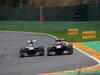 GP BELGIO, 25.08.2013-  Gara, Kimi Raikkonen (FIN) Lotus F1 Team E21 e Daniel Ricciardo (AUS) Scuderia Toro Rosso STR8