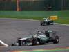 GP BELGIO, 25.08.2013-  Gara, Lewis Hamilton (GBR) Mercedes AMG F1 W04 davanti a Nico Rosberg (GER) Mercedes AMG F1 W04