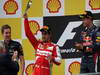 GP BELGIO, 25.08.2013-  Gara, 1st position Sebastian Vettel (GER) Red Bull Racing RB9 e secondo Fernando Alonso (ESP) Ferrari F138
