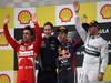 GP BELGIO, 25.08.2013-  Gara, 1st position Sebastian Vettel (GER) Red Bull Racing RB9, secondo Fernando Alonso (ESP) Ferrari F138 e terzo Lewis Hamilton (GBR) Mercedes AMG F1 W04