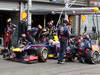 GP BELGIO, 25.08.2013-  Gara, Pit stop, Mark Webber (AUS) Red Bull Racing RB9