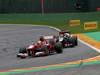 GP BELGIO, 25.08.2013-  Gara, Felipe Massa (BRA) Ferrari F138 davanti a Kimi Raikkonen (FIN) Lotus F1 Team E21