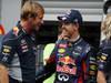 GP BELGIO, 25.08.2013-  Gara, Festeggiamenti, Sebastian Vettel (GER) Red Bull Racing RB9 vincitore