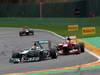 GP BELGIO, 25.08.2013-  Gara, Lewis Hamilton (GBR) Mercedes AMG F1 W04 davanti a Fernando Alonso (ESP) Ferrari F138