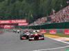 GP BELGIO, 25.08.2013-  Gara, Fernando Alonso (ESP) Ferrari F138 davanti a Jenson Button (GBR) McLaren Mercedes MP4-28