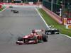 GP BELGIO, 25.08.2013-  Gara, Fernando Alonso (ESP) Ferrari F138 davanti a Lewis Hamilton (GBR) Mercedes AMG F1 W04