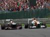 GP BELGIO, 25.08.2013-  Gara, Nico Hulkenberg (GER) Sauber F1 Team C32 e Adrian Sutil (GER), Sahara Force India F1 Team VJM06